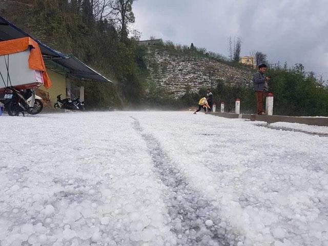 Mưa đá ở Lai Châu