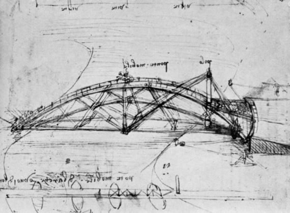 Phác thảo phát minh của Leonardo da Vinci.