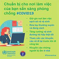 WHO phối hợp với Bộ Y tế đưa ra những lưu ý cần thiết khi đi làm để phòng chống Covid-19