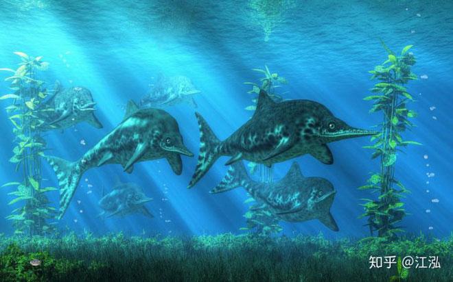 Những con thằn lằn cá cánh hẹp thời cổ đại.