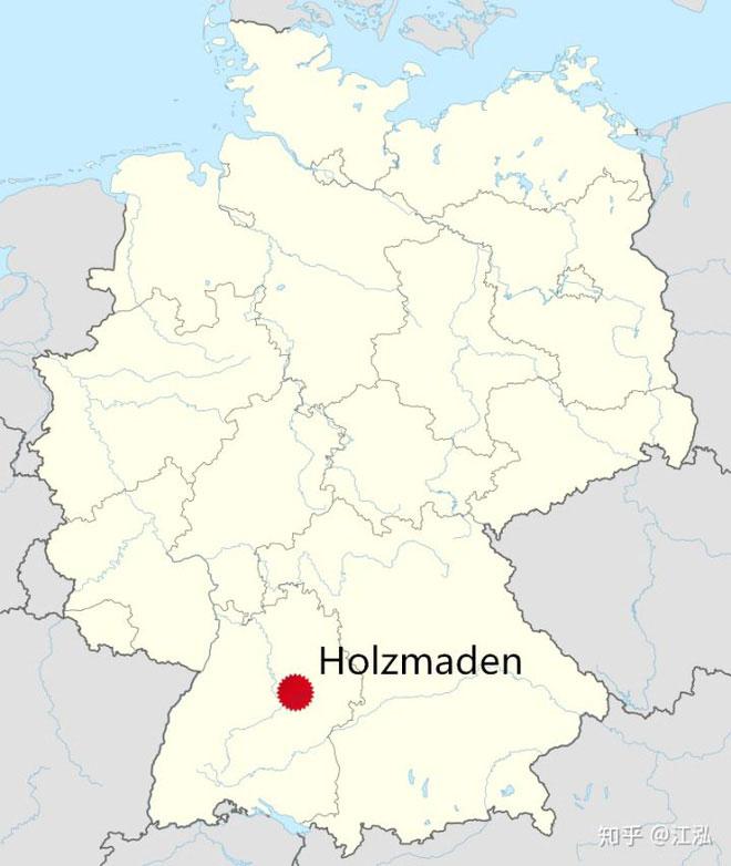 Holzmaden nằm ở miền nam nước Đức.