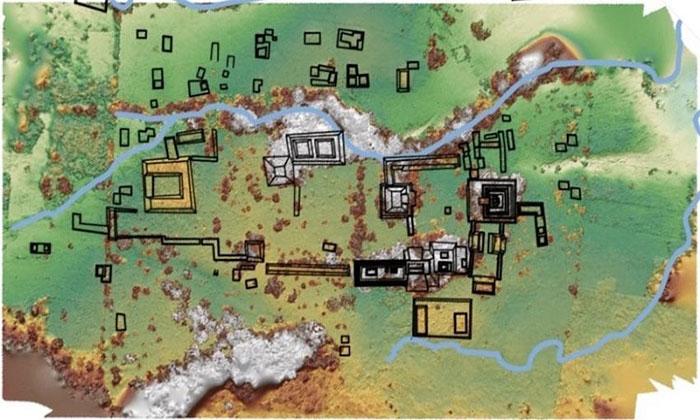 Bản đồ sơ bộ khu vực khai quật.