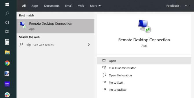 Sử dụng ứng dụng Remote Desktop mặc định trên Windows