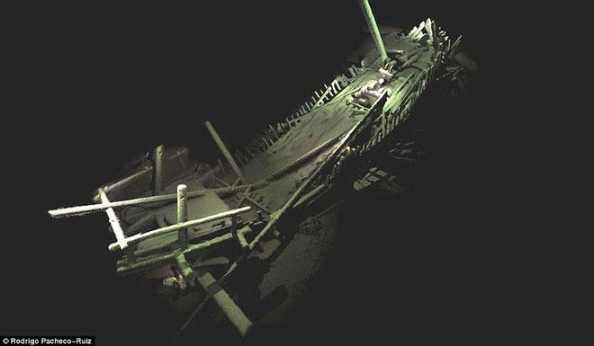 Hình ảnh những con tàu đắm.