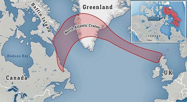 Đá từ Bắc Đại Tây Dương - một phần của vỏ lục địa Trái đất