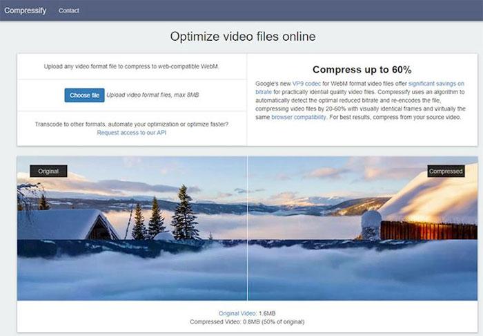 You compress cho phép giảm dung lượng video đến 60% so với kích thước cũ.