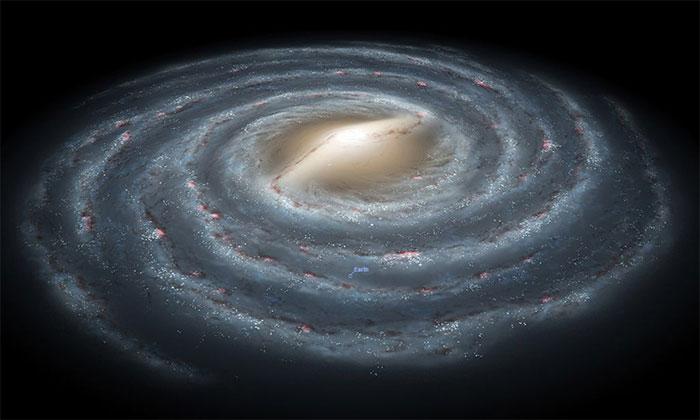 Đường kính của dải Ngân Hà có thể lên đến gần hai triệu năm ánh sáng.