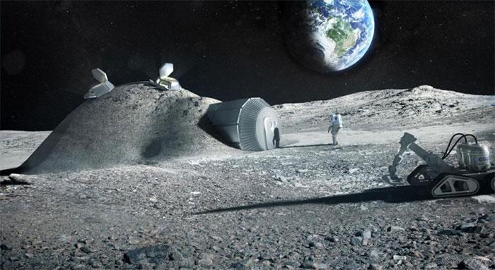 Xây dựng khu định cư trên Mặt trăng rất tốn kém.