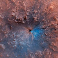Phát hiện 2 hồ nước cổ dưới bề mặt sao Hỏa