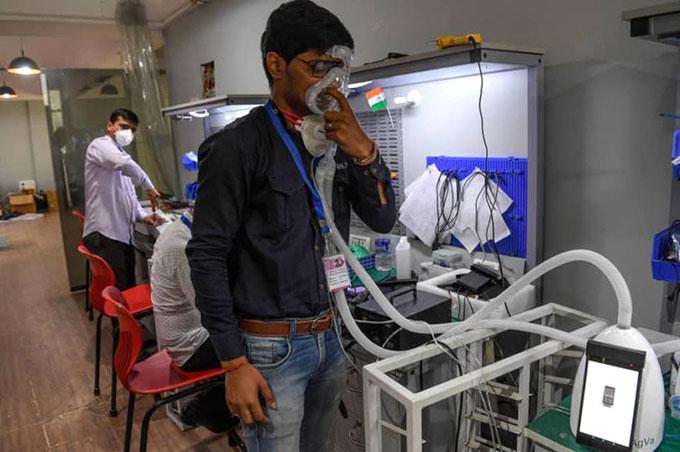 Máy thở cầm tay do công ty AgVa phát triển