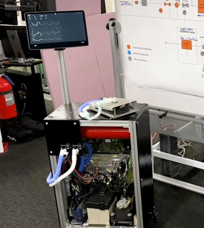 Máy thở của Tesla dùng chính phụ tùng của mẫu xe điện Model 3.