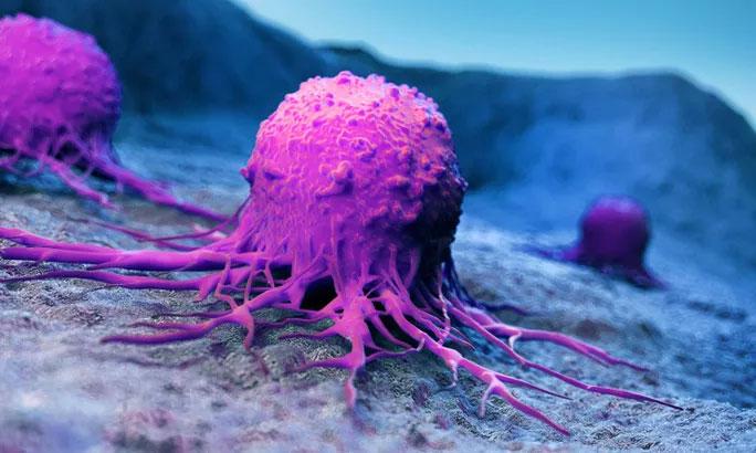 Ảnh đồ họa mô tả tế bào ung thư ở phổi.