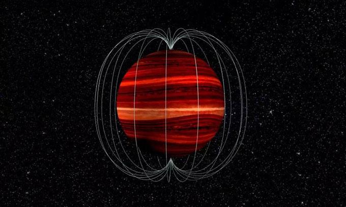 Đồ họa mô phỏng sao lùn nâu 2MASS J1047 + 21.