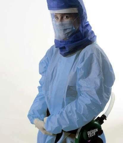 Thiết bị Air-Shield giúp bảo vệ nhân viên y tế.