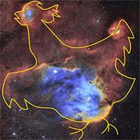 """Ảnh chụp """"tinh vân gà chạy"""" cách 6.000 năm ánh sáng"""