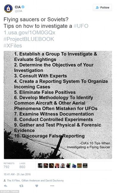10 điều nên làm khi nhìn thấy vật thể lạ, theo khuyến nghị của CIA