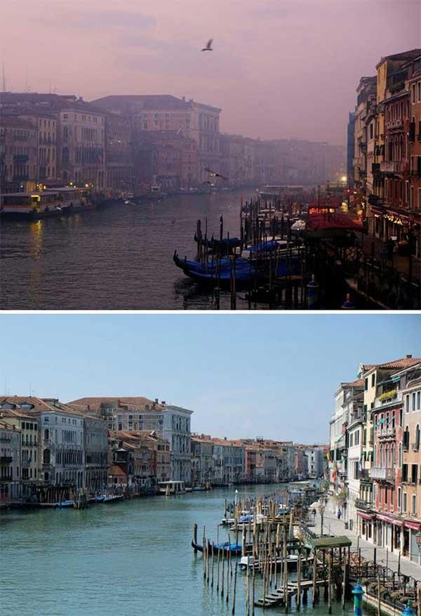 Kênh đào Grand ở Venice, Italy
