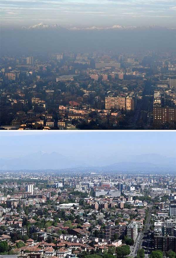 Milan được mệnh danh là thành phố ô nhiễm nhất châu Âu năm 2008.