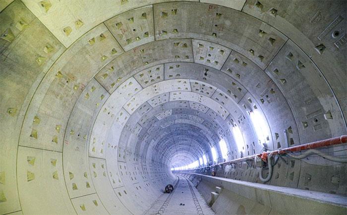 Tầng hầm B1 và B3 cơ bản đã hoàn thiện, hầm B2, B4 đang thực hiện nốt
