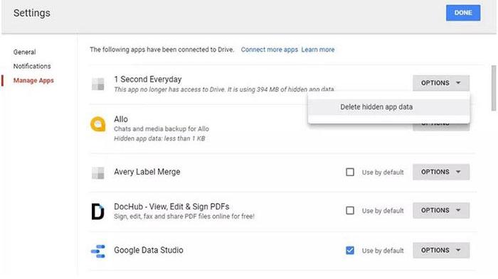 Xóa file phân mảnh trên Google Drive