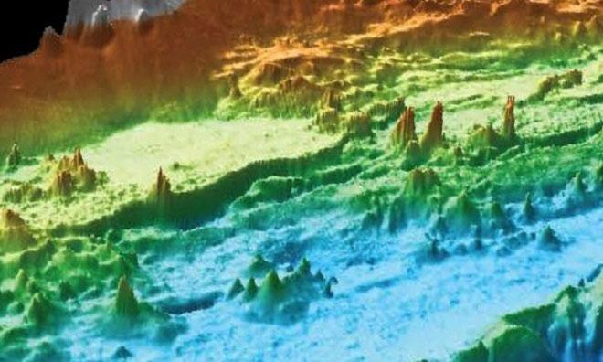 Những miệng phun thủy nhiệt đủ kích cỡ ở đáy biển ngoài khơi Mỹ.