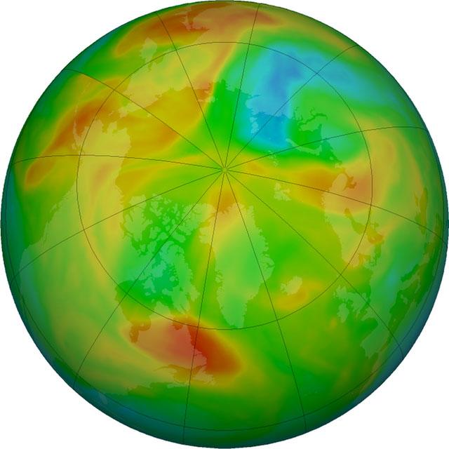Phần màu đỏ tượng trưng cho không khí tập trung tại điểm diễn ra lốc cực, và chúng sẽ ở nguyên đó trừ khi có luồng không khí mới thổi tới từ bên ngoài.