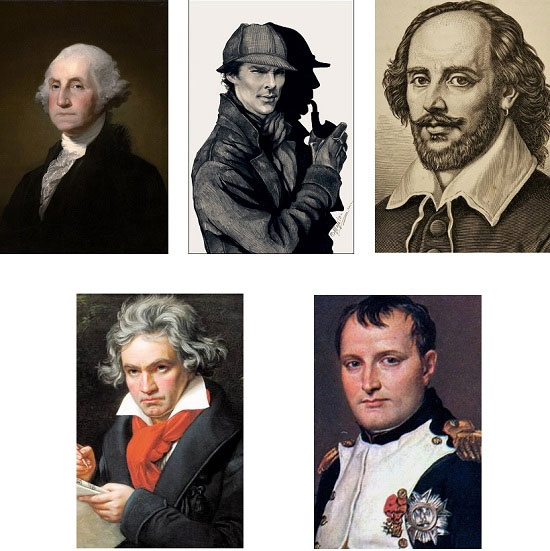 Ai là người khác biệt nhất so với những người còn lại trong những nhân vật nổi tiếng trong hình