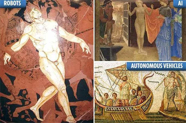 Nhiều phát minh, tác phẩm trong thần thoại Hy Lạp cho thấy khả năng tiên đoán của người hi lạp cổ đại