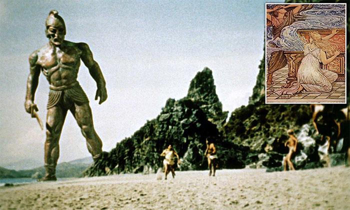 Talos - Cỗ máy khổng lồ hình người được đúc bằng đồng có nhiệm vụ canh giữ hòn đảo Crete.