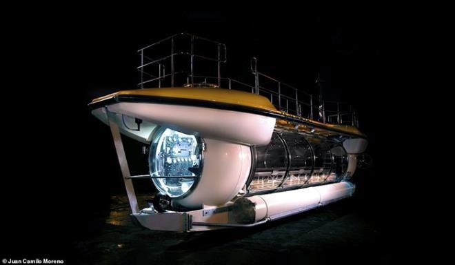 Tàu ngầm Triton Deepview24 có thể đưa 24 hành khách lặn tới độ sâu lên tới 100m.