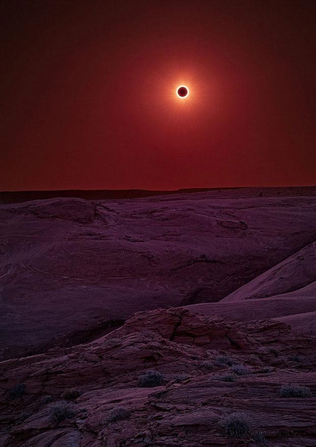 Hiện tượng nhật thực xảy ra ở Arizona.