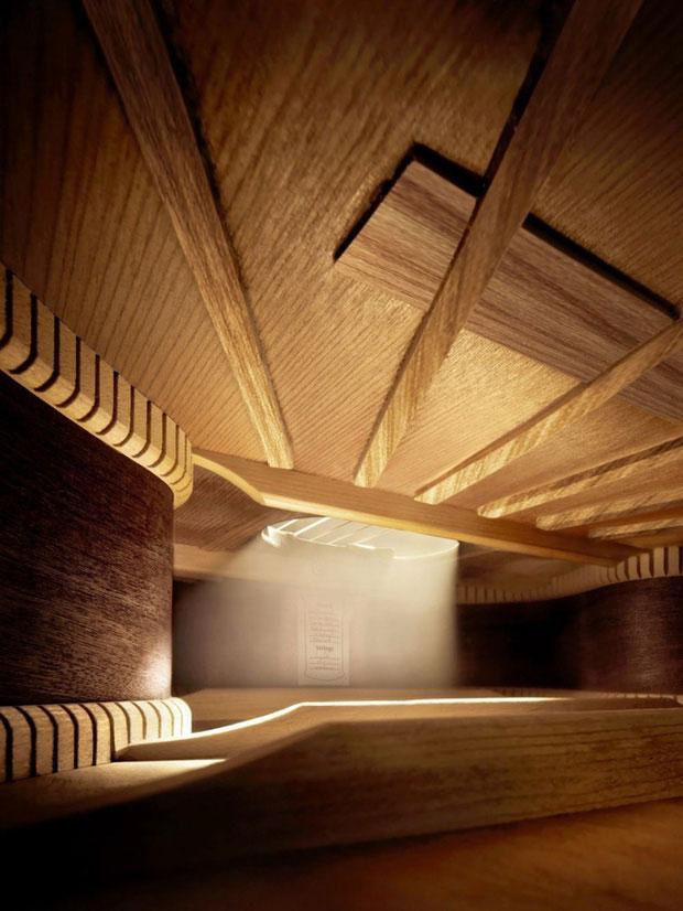 Đây chẳng phải là một ngôi nhà nào cả mà chính là không gian bên trong cây đàn piano.