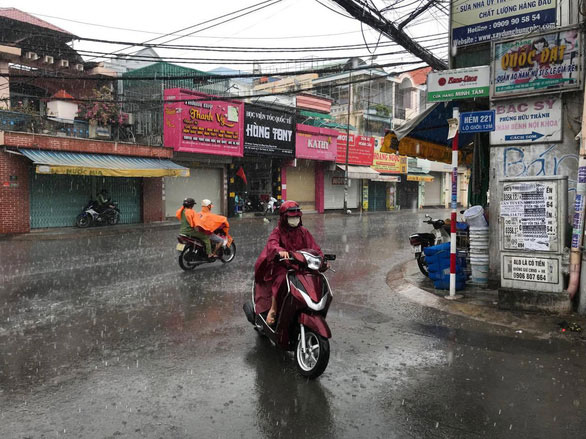 Những ngày tới dự báo Nam Bộ và TP.HCM sẽ có mưa lớn