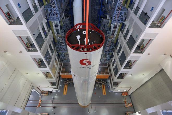 Tầng trung tâm tên lửa Trường Chinh 5B trong một nhiệm vụ trước đó.