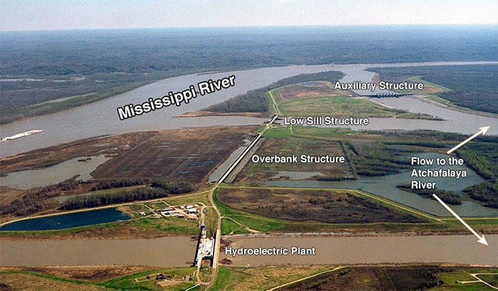 Cấu trúc Kiểm soát dòng sông cổ được hình thành bởi 3 công trình độc lập