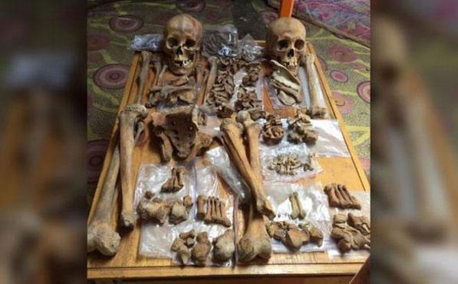 Hài cốt của 2 người phụ nữ được tìm thấy ở Mông Cổ.
