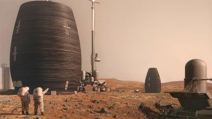 """""""Căn nhà sao Hỏa"""" lấy cảm hứng từ tổ ong."""