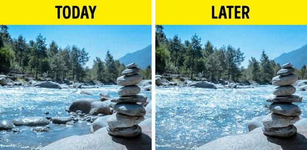Tại sông hoặc suối, mỗi tảng đá ở đó chứa đựng cả một hệ sinh thái bên dưới.