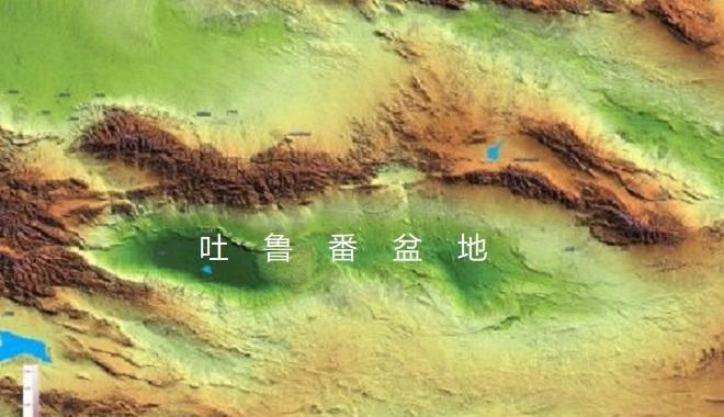 Nguồn nước trong lưu vực Turpan chủ yếu là từ nước tan chảy của sông băng trên những ngọn núi cao xung quanh.