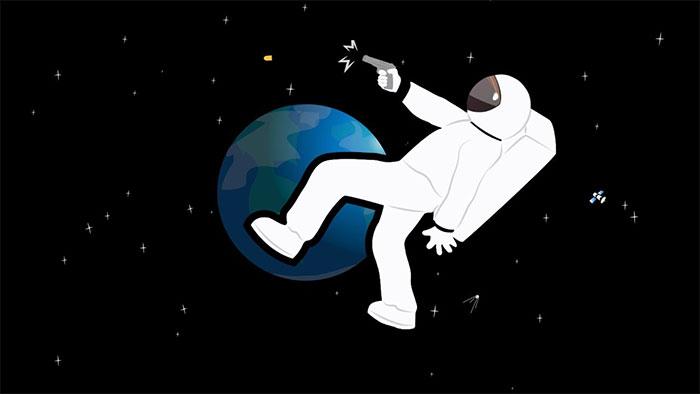 Sau phát bắn, viên đạn sẽ tiếp tục di chuyển trong không gian mãi mãi.