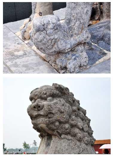 Việc chạm khắc sư tử đá đặt làm thần thú giữ cửa xuất phát từ triều đại nhà Đường.