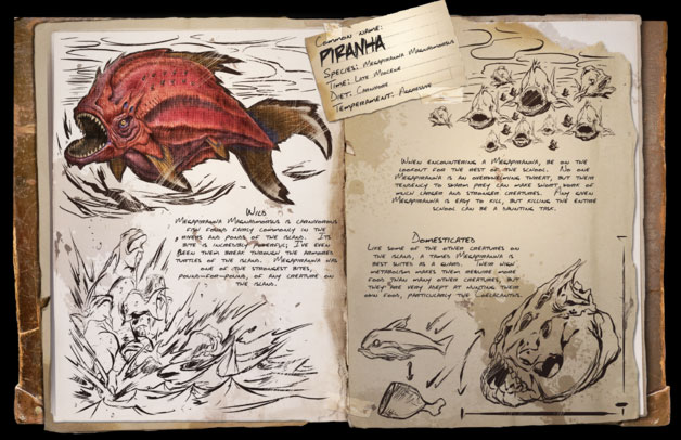 Megapiranha có hình dạng quái dị, đáng sợ hơn rất nhiều so với piranha hiện đại.