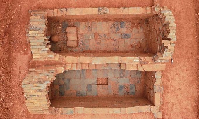 Ngôi mộ thời Bắc Tống chứa hài cốt đôi vợ chồng.