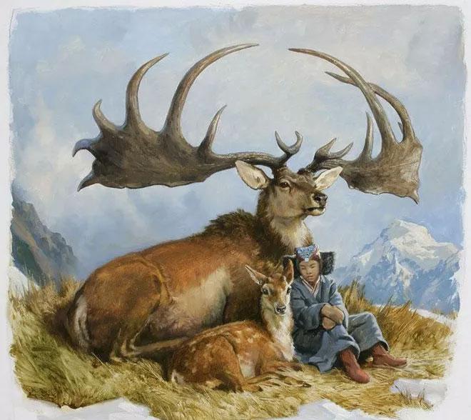 Nai sừng tấm là biểu tượng của đất nước Iceland.