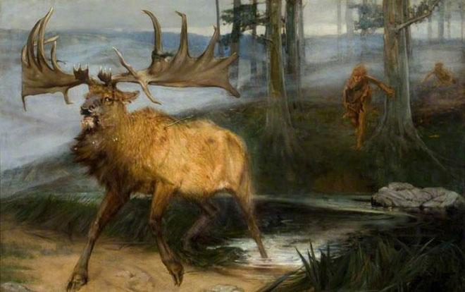 Nai sừng tấm Iceland tuyệt chủng do sự săn bắn của con người.