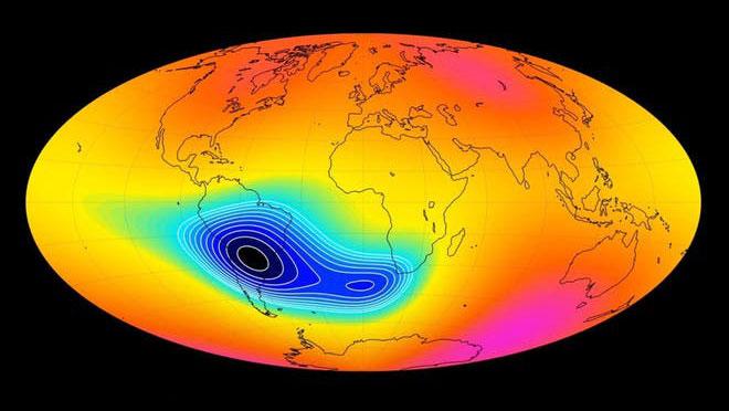 Ảnh đồ họa mô tả từ trường Trái đất