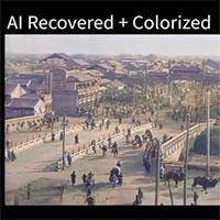 Phục chế màu cho video 100 tuổi bằng AI
