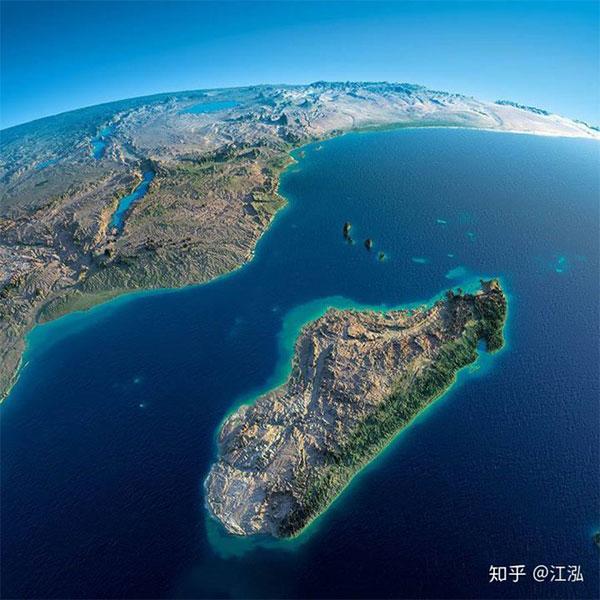 Đảo Madagascar treo lơ lửng ở Ấn Độ Dương.