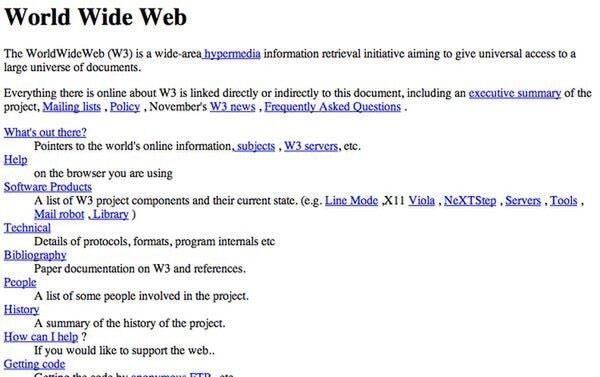 Ngày 6/8/1991, website đầu tiên trên thế giới chính thức được công bố,
