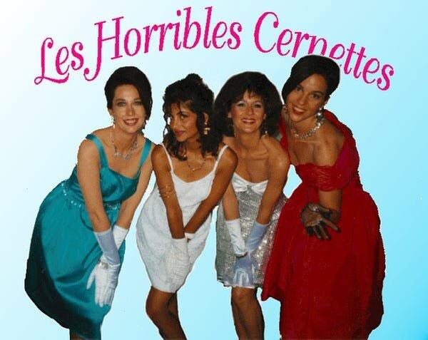 Hình ảnh của một nhóm nhạc nữ mang tên Les Horrible Cernettes.